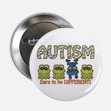 "Autism Dare to be Different 2.25"" Button (10"