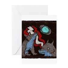 Early Cuyler 3 Wolf Moon Greeting Card