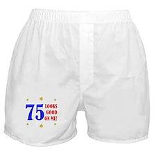 Fun 75th Birthday Boxer Shorts