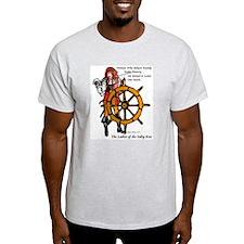 Ships Wheel T-Shirt (Ash Grey)