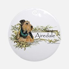 Vintage Airedale Ornament (Round)