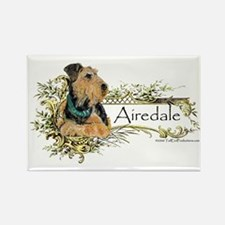 Vintage Airedale Rectangle Magnet