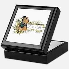 Vintage Airedale Keepsake Box