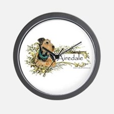 Vintage Airedale Wall Clock