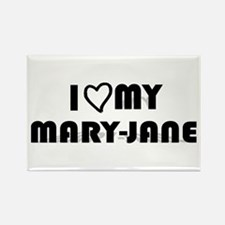 I Luv My Mary-Jane, Weed Rectangle Magnet