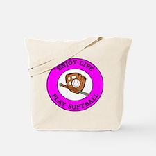 Enjoy Life Play Softball Tote Bag