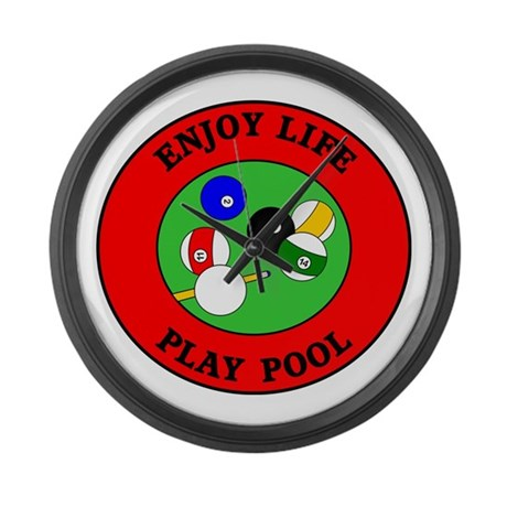 Enjoy Life Play Pool Large Wall Clock