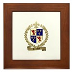 BRASSEUR Family Crest Framed Tile