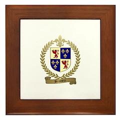 BRASSEUR Family Crest Framed Tile