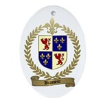 BRASSEUR Family Crest Oval Ornament