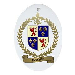 BRASSEUR Family Crest Oval Ornament