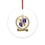 BRASSEUR Family Crest Ornament (Round)