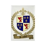 BRASSEUR Family Crest Rectangle Magnet (100 pack)