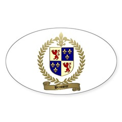 BRASSEUR Family Crest Oval Decal