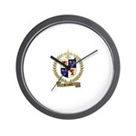 BRASSEUR Family Crest Wall Clock