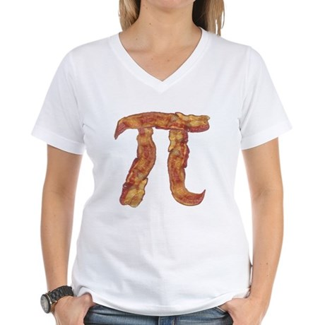 Bacon Pi Women's V-Neck T-Shirt