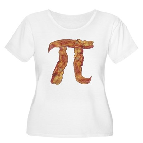 Bacon Pi Women's Plus Size Scoop Neck T-Shirt