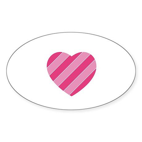 Heart Oval Sticker