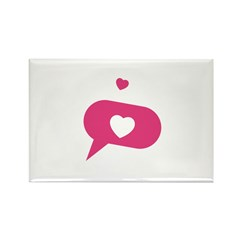 Heart Rectangle Magnet (10 pack)