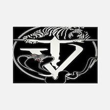 Tyger Vinum Logo (black) Rectangle Magnet