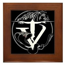 Tyger Vinum Logo (black) Framed Tile