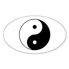 Yin Yang Oval Sticker (10 pk)