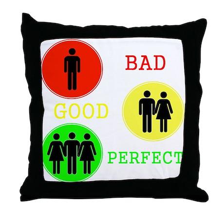 Threesome - FMF Throw Pillow