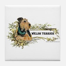 Vintage Welsh Terrier Tile Coaster