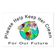 Help Keep The Earth Clean Postcards (Package of 8)
