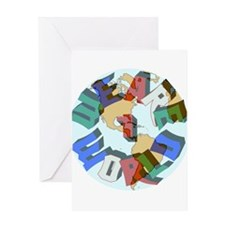 We Are 1 World Greeting Card