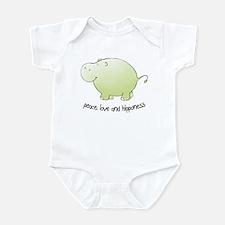 peace, love & hipponess Infant Bodysuit