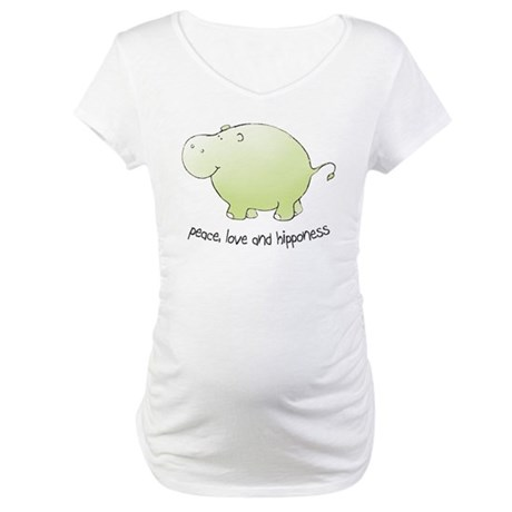 peace, love & hipponess Maternity T-Shirt