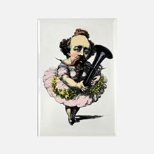 BandNerd.com: Baritone Fairy Rectangle Magnet