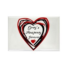 Grey's Anatomy Forever Rectangle Magnet