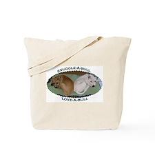 Snuggle-A-Bull Tote Bag
