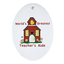 Cute Teach Oval Ornament