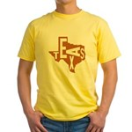 Texas Football Yellow T-Shirt