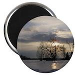 """Winter Sunset 0005 2.25"""" Magnet (10 pack)"""