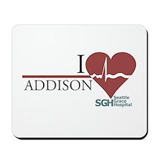 I Heart Addison Mousepad