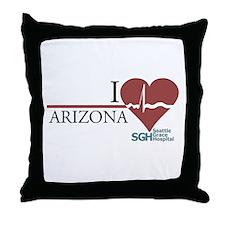 I Heart Arizona - Grey's Anatomy Throw Pillow