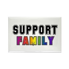 Support Family Rectangle Magnet
