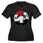 Syria Women's Plus Size V-Neck Dark T-Shirt