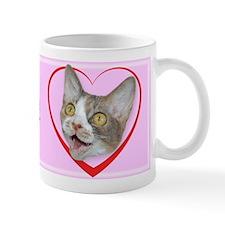 I Kiss My Cat Small Mug