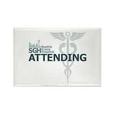Seattle Grace Attending Rectangle Magnet (100 pack