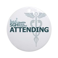 Seattle Grace Attending Round Ornament