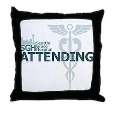 Seattle Grace Attending Throw Pillow
