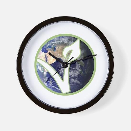 Unique Vegan Wall Clock
