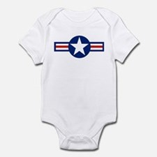 Retro Airforce Star Infant Bodysuit