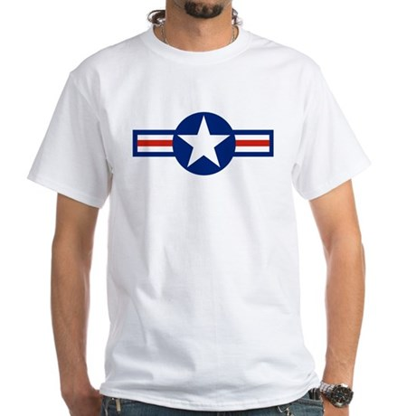 Retro Airforce Star White T-Shirt