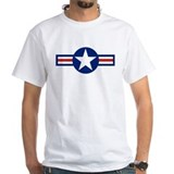 Us airforce Mens White T-shirts